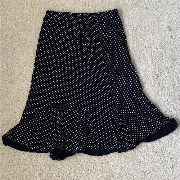 Christopher & Banks Dresses & Skirts - Black skirt with white polka dots.